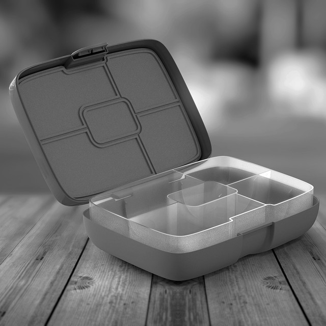 Lunchbox project block bw